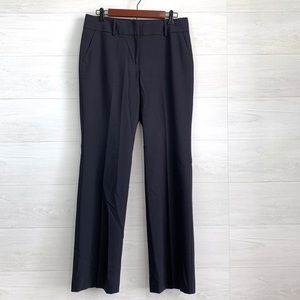 Ann Taylor Navy Wool Blend Flat Front Trousers